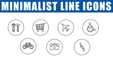 minimalist icons how to make minimalist line icons in photoshop cc icons