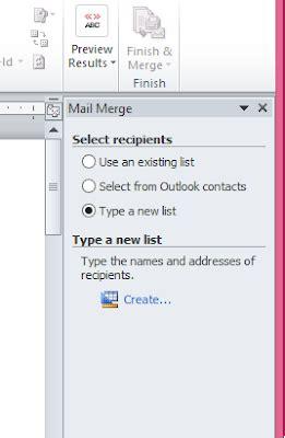 fungsi dan cara membuat mail merge sofia rizki cara membuat mail merge di ms word 2010 dan