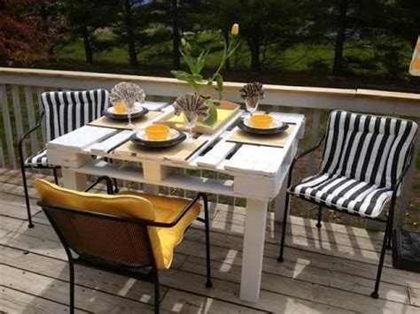 Patio Table Ideas by Diy Pallet Patio Table Furniture Pallets Designs