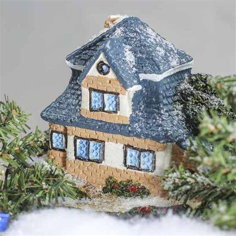 Ceramic Cottage miniature painted resin cottage garden miniatures dollhouse miniatures doll