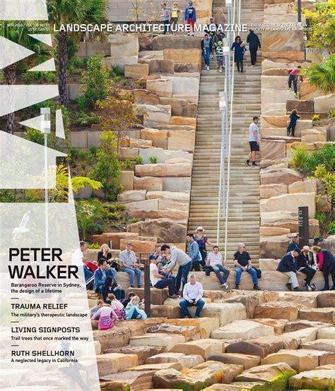 free architecture magazine magazine landscape architecture november 2016 usa read