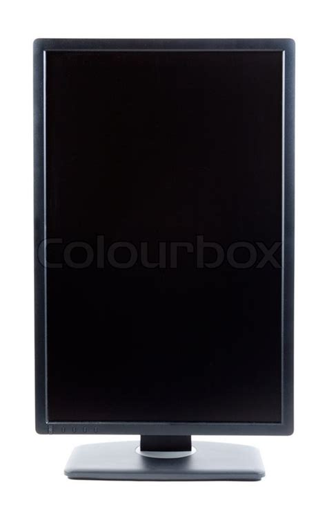 Monitor Lcd Vertical black ips lcd monitor in a vertical format stock photo colourbox