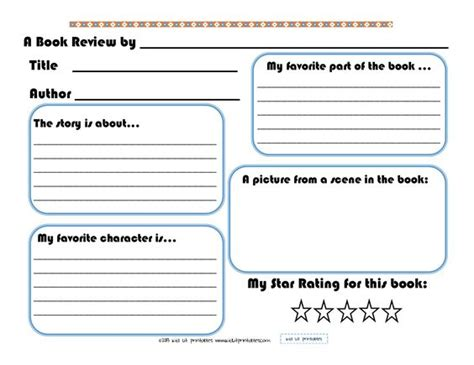 kindergarten book report forms 3 levels of free printable book reports from kid lit