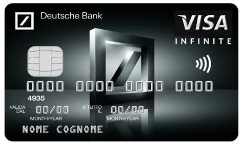 business card deutsche bank deutsche bank lancia visa infinite