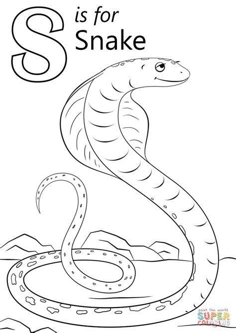 letter s coloring pages letter s is for snake coloring page free printable