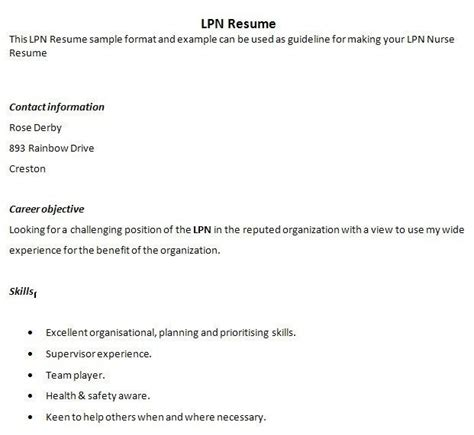 lvn resume sle for a new grad search results for sle of reference letter lpn calendar 2015