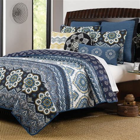patterned coverlets navy blue bedding sets and quilts ease bedding with style