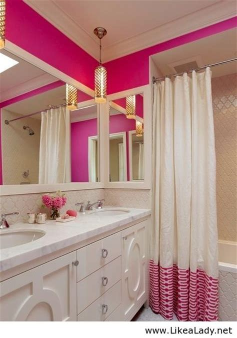 Pink and gold bathroom dream home pinterest bathroom white bathrooms and pink