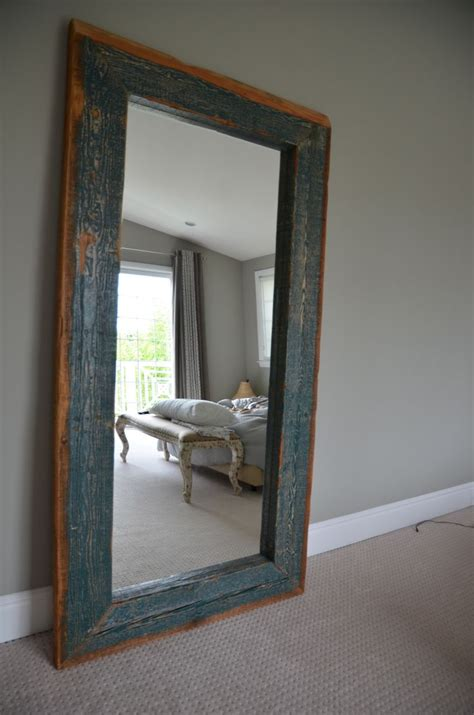 reclaimed wood floor mirror for keep pinterest