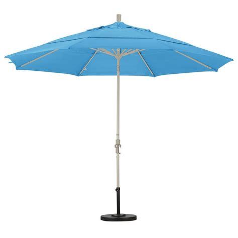 blue pattern patio umbrella california umbrella 11 ft fiberglass collar tilt double