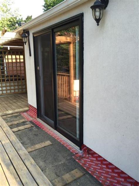 weep holes in sliding glass door question on patio door external weep holes and leaks below