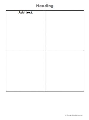 2x2 lined card template portraits graphic organizer templates 2x2 grid printable grids