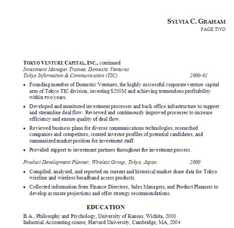 Venture Capital Investment Template resume investment associate venture capital susan