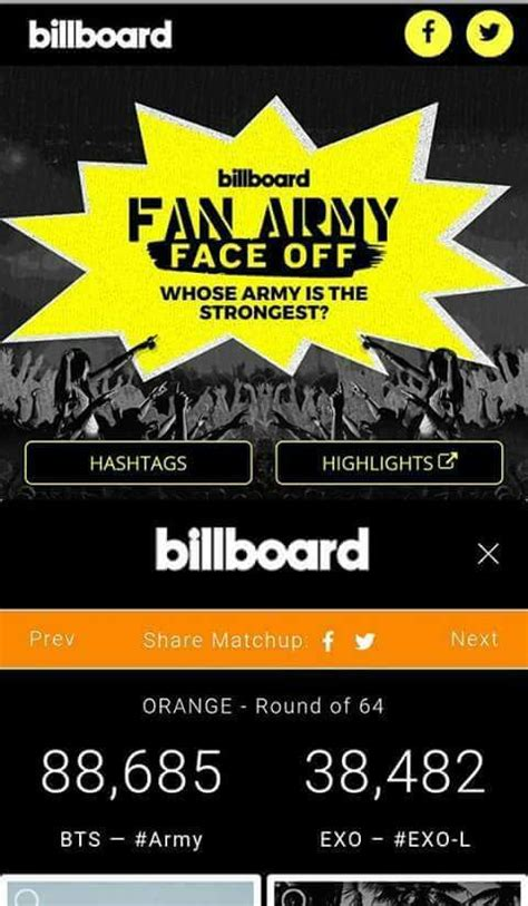billboard fan army 2017 vote billboard s 2017 fan army face off army s amino