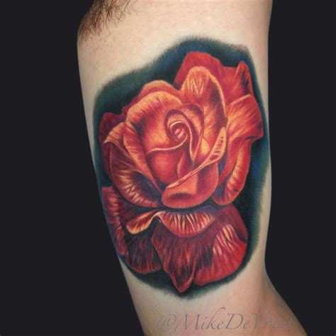rose tattoo by mike devries tattoos