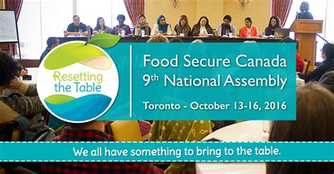 Resetting The Table by Resetting The Table Fsc S 9th Assembly Toronto October