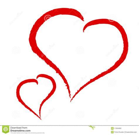 imagenes de corazones vacanos dos corazones en el fondo blanco ilustraci 243 n del vector