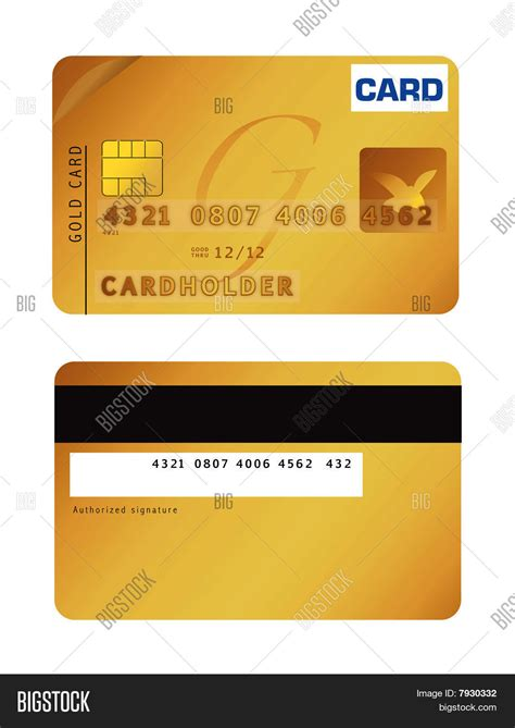 Card Preview by Gold Credit Card Vector Photo Bigstock