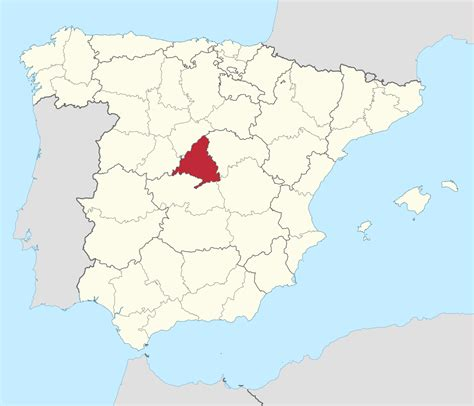 madrid spain on world map location of spain on world map