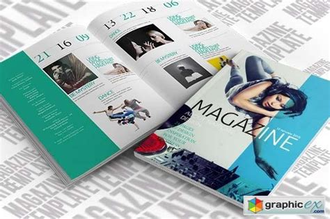 indesign magazine template creativemarket 21141 187 free