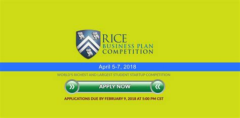 Rice Mba Calendar by Rice Business Plan Graduate Level Student