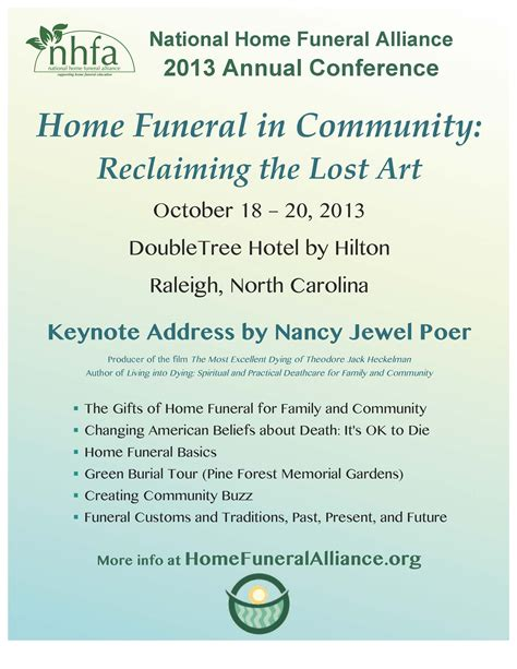 national home funeral alliance annual conference the