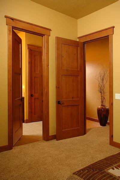 knotty alder trim  images craftsman interior