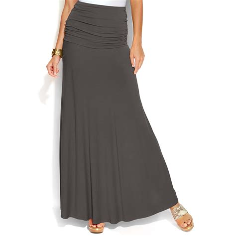 inc international concepts convertible maxi skirt in gray