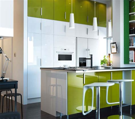Kitchen Design Ideas 2012 By Ikea White Green Cabinet Ikea Kitchen Cabinets White