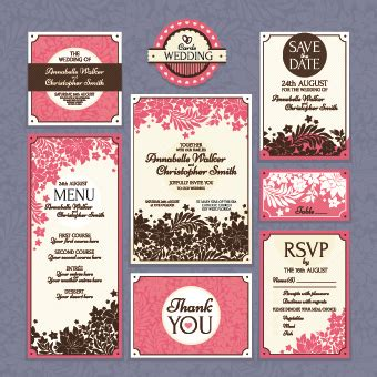 Wedding Card Eps by Wedding Card Vector Template Free Vector In Encapsulated