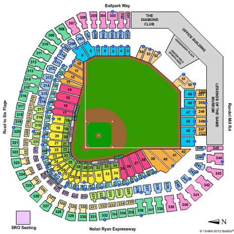 texas rangers ballpark seating map texas rangers stadium seating chart with rows pictures to pin on pinsdaddy