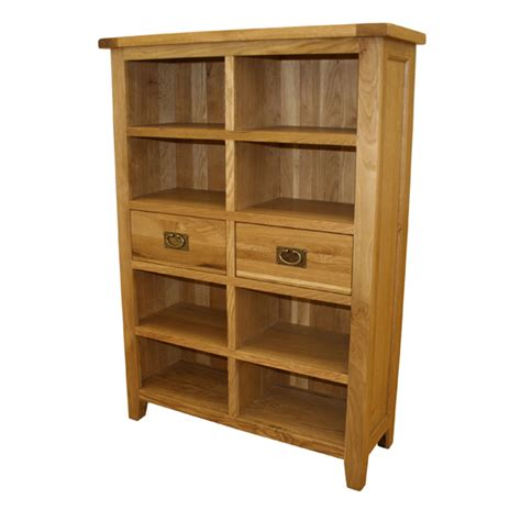 Wide Bookcase With Drawers Vancouver Oak 2 Drawer Wide Bookcase Review