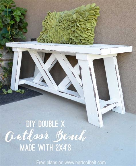 x bench diy double x bench plans her tool belt