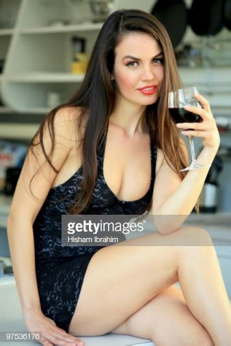 hot date wine beautiful sexy woman drinking a glass of red wine stock