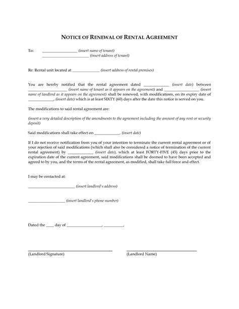Lease Renewal Letter To Landlord Sle landlord not renewing lease letter to tenant not renewing lease letter artresume sle letter