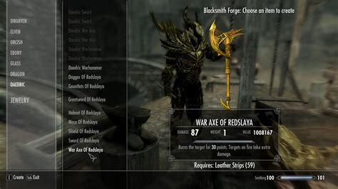 skyrim daedric armor and weapons golden daedric armour and weapons at skyrim nexus mods