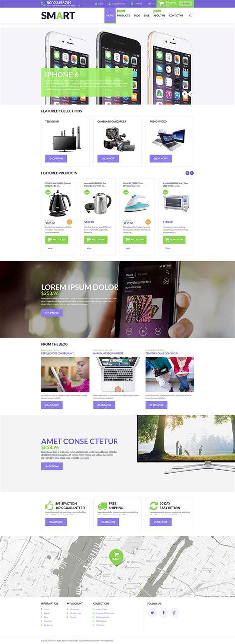 shopify themes electronics template 53497 ensegna themes