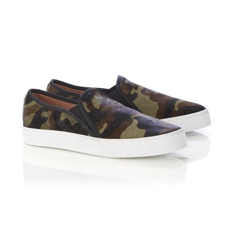 womens camo sneakers corso como s duffy green camouflage slip on shoe