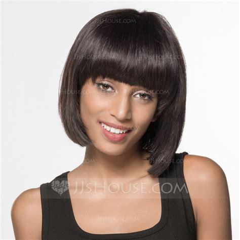 good human hair used in a bob straight bob human hair wigs african american wigs