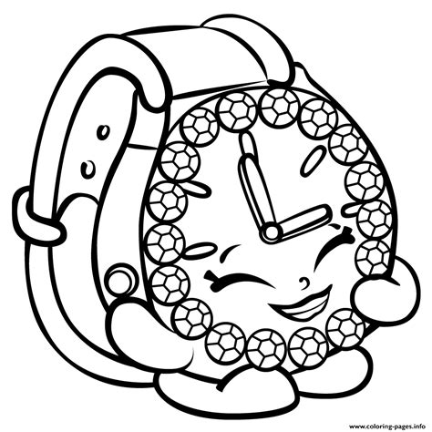 coloring pages of shopkins season 3 print ticky tock watch shopkins season 3 coloring pages