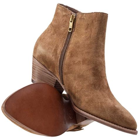 ash lenny baby soft womens ankle boots in brown