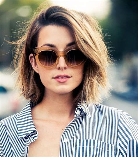 best lob hairstyles for thick hair the most flattering short haircuts for thick hair byrdie