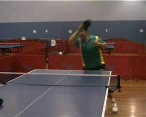 Topspin Table Tennis by Table Tennis Forehand Topspin Against Backspin Lesson