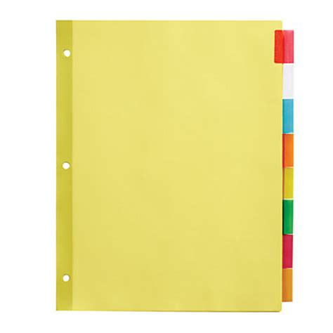 Office Depot Brand Insertable Dividers With Tabs 8 12 x 11