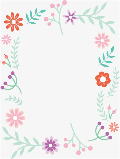 8 Floral And Lovely Projects by Small Fresh Borders Vector Png Small Fresh Lovely