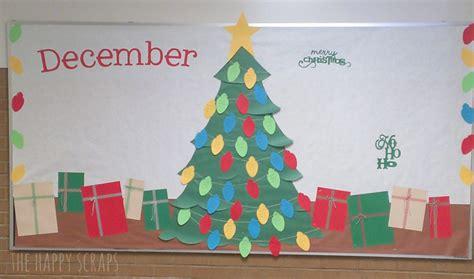 paper christmas tree bulletin board 12 months of bulletin board ideas the happy scraps