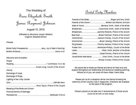 Traditional Wedding Letter Template Traditional Wedding Program Template Weddings