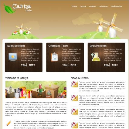 studio templates free cantya studio template free website templates in css html