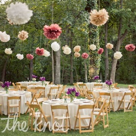 backyard wedding centerpieces whimsical outdoor reception decor our big day navy