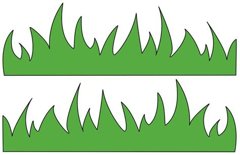 grass template grass template for clipart best
